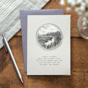 'Family Is More Than A Word' Card