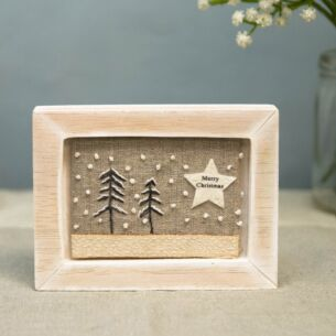 'Merry Christmas' Embroidered Picture Frame