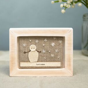'Let It Snow' Embroidered Picture Frame