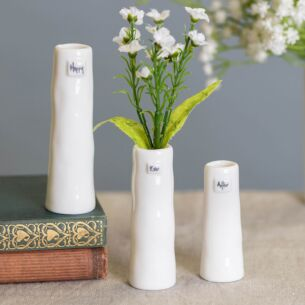 'Happy Ever After' Trio of Bud Vases