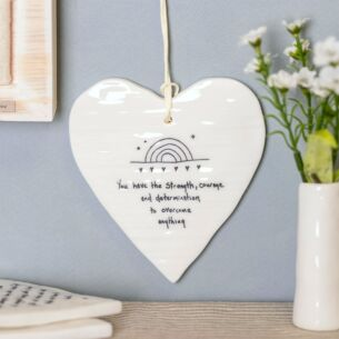 'You Have the Strength' Wobbly Round Heart