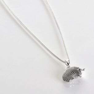 Silver Plated Country Hedgehog Necklace