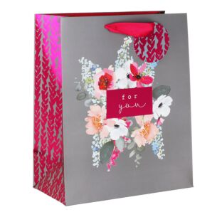 Stephanie Dyment Posy Grey Large Gift Bag