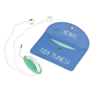 Tidy Tunes Blue Earphones Case