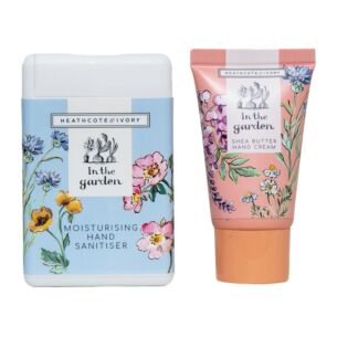 In The Garden Hand Cream & Moisturising Hand Sanitiser Set