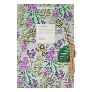 RHS Flower Blooms Lavender Garden Scented Drawer Liners