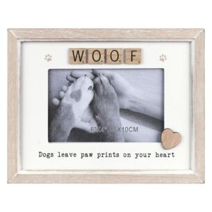 Scrabble 'Woof' Sentiments Frame