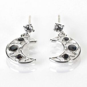 Mother of Pearl Moon Silver Plated Earrings