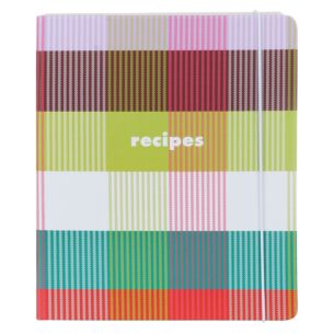 Rainbow Plaid Recipe Book