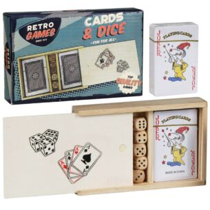 Retro Games Playing Cards & Dice Set