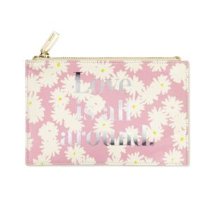 Love is All Around Bridal Pencil Pouch