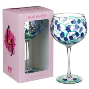 Lynsey Johnstone Hand Painted Bluebells Gin Glass