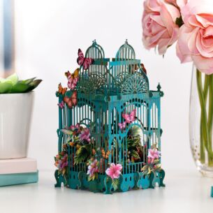 """Tropical Cage"" 3D Birthday Card"