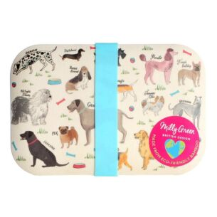 Debonair Dogs Bamboo Lunch Box