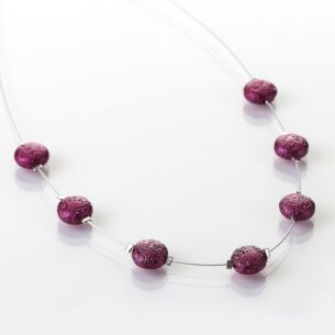 Cranberry Moons Necklace