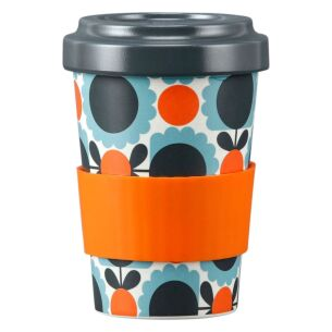 Scallop Flower Sky Blue Bamboo Travel Cup