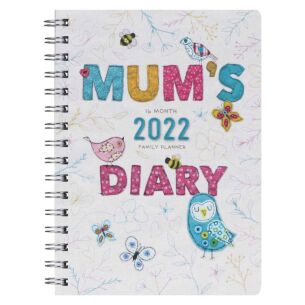Mums Fabric 16 Month 2021/2022 Family Planner Diary