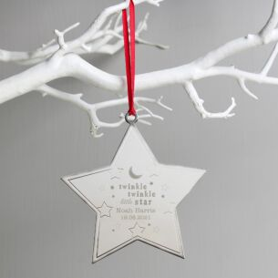 Personalised 'Twinkle Twinkle' Star Metal Decoration