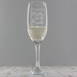 Personalised Mother Of The Bride Flute Glass