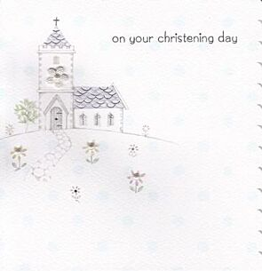Cherish Christening Day Card