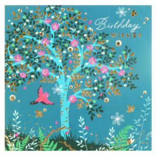 Emerald Tree Birthday Card