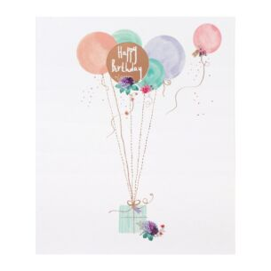 Lemon Sorbet Balloons Birthday Card