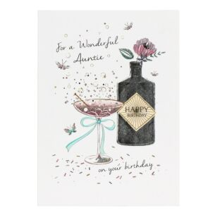 Amaretto Auntie Birthday Card