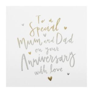 Cloud Nine 'Mum & Dad' Anniversary Card