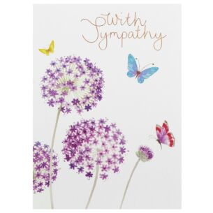 Delphine 'With Sympathy' Card