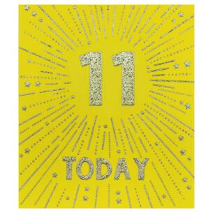 Firecracker 11th Birthday Card