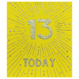 Firecracker 13th Birthday Card