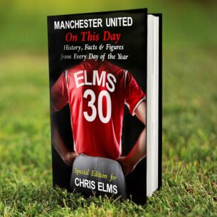 Personalised Manchester United On This Day Hardback Book