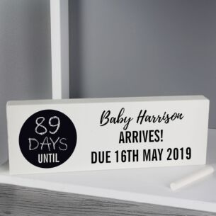 Personalised Classic Countdown Wooden Block Sign