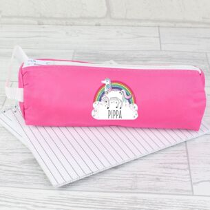 Personalised Unicorn Pink Pencil Case