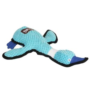 Blue Squeaky Plush Duck Dog Toy