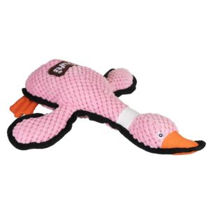 Pink Squeaky Plush Duck Dog Toy