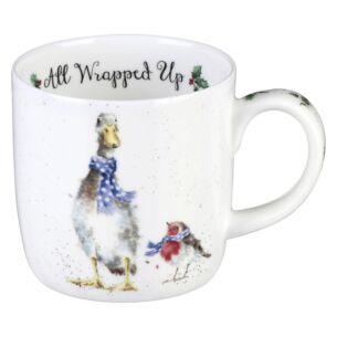 'All Wrapped Up' Goose Mug from Royal Worcester