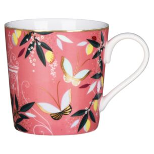 Coral Orchard Butterfly Boxed Mug