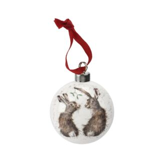All I Want for Christmas Hare Christmas Bauble From Royal Worcester