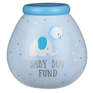 Little Elephant Baby Boy Fund Money Pot