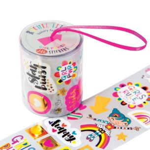 Girl Power Roll Of Stickers