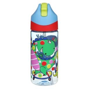 Dinosaurs Drink Bottle with Straw