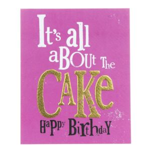 All About The Cake Birthday Greetings Card
