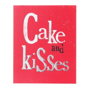 Cake And Kisses Greetings Card