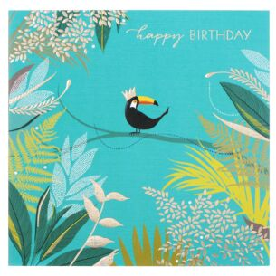 Toucan on Branch Birthday Card