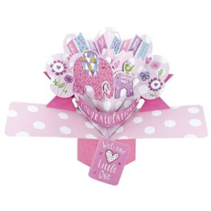 'Baby Girl' Pop Up Card