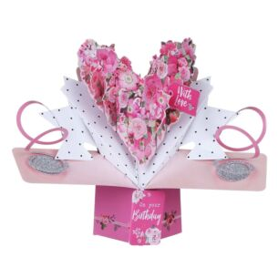 'With Love on Your Birthday' Pop Up Card