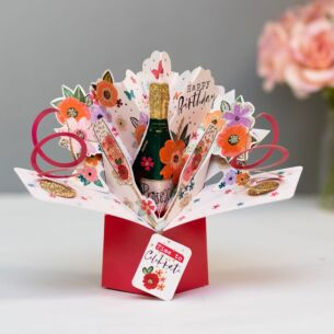 Second Nature Birthday Bubbly Pop Up Card
