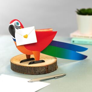 Polly The Parrot 3D Greeting Card