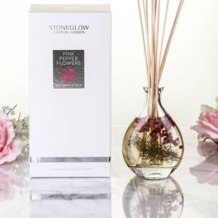 Nature's Gift Pink Pepper Flowers Reed Diffuser